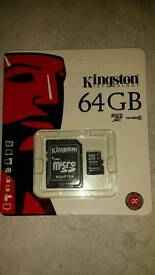 64GB Micro SD Card for phones, tablets or laptops will also deliver ! ! !