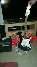 Squire Electric guitar And Marshal Amp