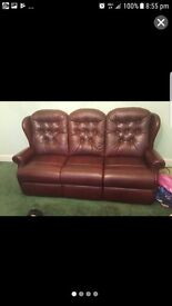 3seater sofa. Plus 2 matching armchairs. Perfect condition never been used.