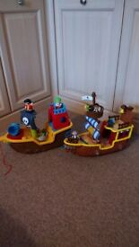 Toy pirate ships