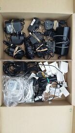 JOB LOT TELEPHONE MOBILE CHARGERS CABLES SPLITTERS FILTERS ETC CAR BOOT ITEMS