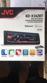 JVC KD-X242BT Bluetooth Aux FM Car Stereo