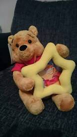 Winnie the pooh teddy photoframe never used