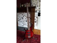 Tanglewood Overwater Aspiration Deluxe 4 string Left Handed Bass Guitar