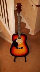 Left-hand Guitar & Case