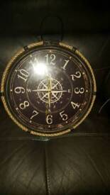NAUTICAL STYLE WALL CLOCK, EXCELLENT CONDITION