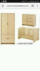 3 piece nursery furniture set