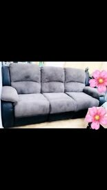 Designer reclining sofa set