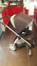 Mamas and papas sola pram with carry cot