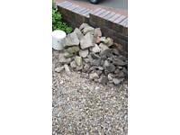 Rubble, brick and sandstone pieces