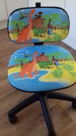Childs dinosaur swivel chair