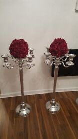 Floor Standing Candelabra with display plate. Selling individually. As new