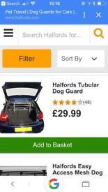 Dog guard for car nearly new