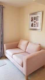 Next Maxwell modern 2-3 seater blush sofa like new 4 months old
