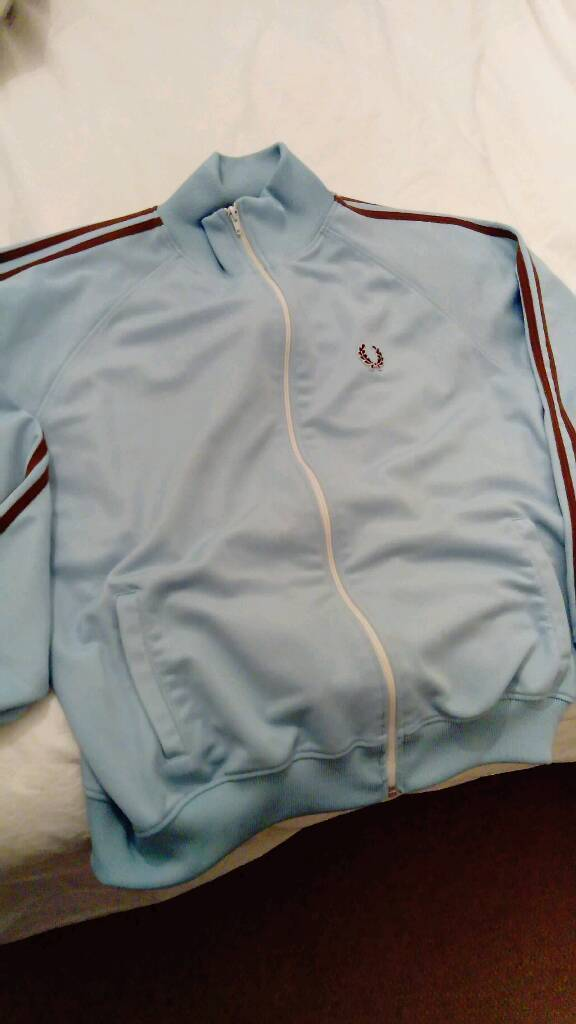 Vintage 1990s XL FRED PERRY Zipped tracksuit top with pockets