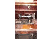 Singer sewing machine with stand.