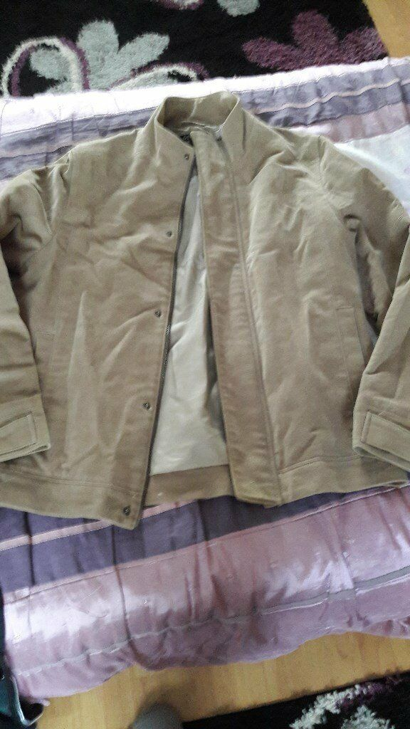 Beige Mens Jacket/Coat Size small