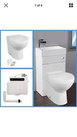 Back to wall WC & basin vanity unit