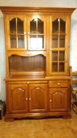 Oak Dresser/Display Cabinet
