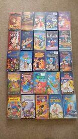 25 Disney Classics VHS Videos