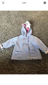 Girls Ted Baker light blue jacket 9-12 Months
