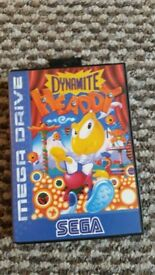 sega megadrive Dynamite Headdy boxed with instructions