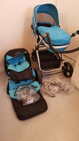 Isafe travel system for sale excellent condition