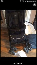 Silvercross pram as new with carseat and carrycot