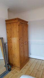 Solid Wood Double Wardrobe