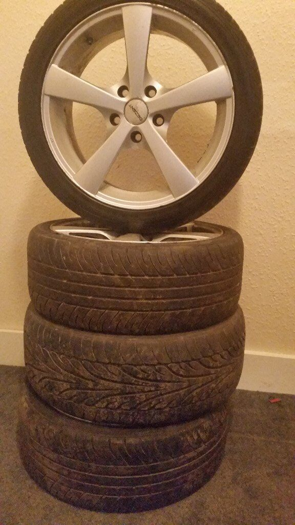 17inch tyres with alloys very good contation