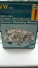 W transporter t2 haynes manual workshop 1968 -79 vgc