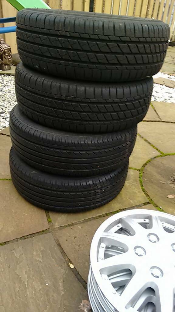 4 x 165/65/13 tyres on ford Ka steel rims