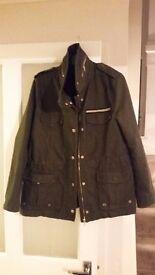 Military Style Khaki Jacket - Size 14