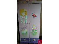 CHILDREN KIDS GIRLS PINK FAIRY BEDROOM WARDROBE
