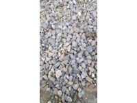 gravel ,sand and decorative pebbles