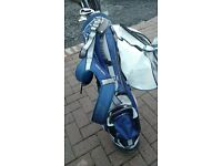 GOLF STAND BAG AND ASSORTED CLUBS
