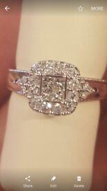 Bridel set diamond engagment and wedding ring