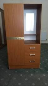 Wardrobe, Drawer and Mirror