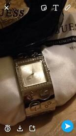 Guess designer watch and necklace