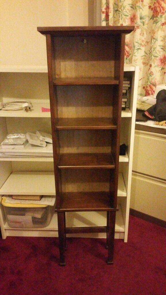 Solid Wood Book Dvd Shelf
