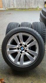 BMW 4Xwinter tires plus aluminium rims. All in very good condiotion.