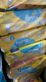 Pampers sizes 1,2,3,5,5+, 6+