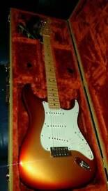 Fender Stratocaster deluxe USA. Sunset metallic. 2011