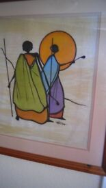 Framed Painting from South Africa 2005