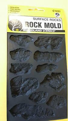 ROCK MOLD SURFACE ROCKS- Woodland Scenics #1231 C1231 Model Trains