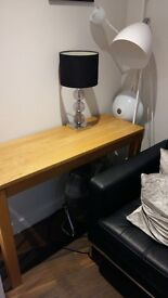 Sturdy, solid wood side table
