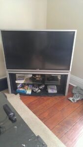 TV with stand and remote
