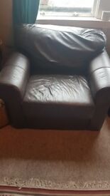 FREE Brown faux leather chair