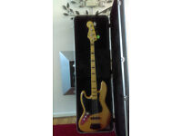 1970 vintage jazz bass left handed made by squier fender