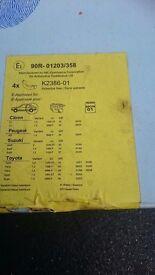 Rear brake shoes Yaris, Aygo, Peugeot Citroen, Suzuki